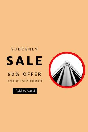 Portrait design template for sales - #banner #businnes #sales #CallToAction #salesbanner #security #office #white #& #building