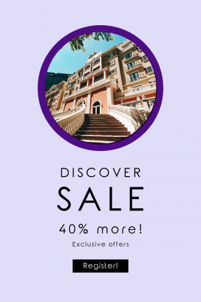 Portrait design template for sales - #banner #businnes #sales #CallToAction #salesbanner #black #shapes #hotel #condominium #circle