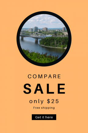 Portrait design template for sales - #banner #businnes #sales #CallToAction #salesbanner #estate #panorama #skyline #river #bank #bridge #city #sky #water