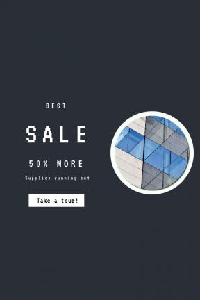Portrait design template for sales - #banner #businnes #sales #CallToAction #salesbanner #futuristic #facade #reflection #letter #new