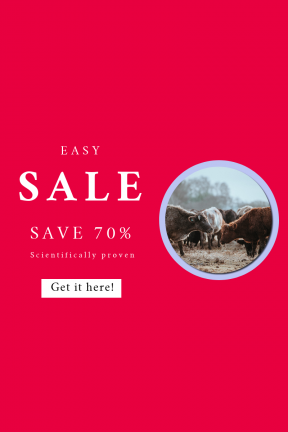 Portrait design template for sales - #banner #businnes #sales #CallToAction #salesbanner #animal #hay #cattle #field #authentic #grazing #herd #nature