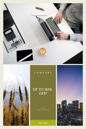 Portrait design template for sales - #banner #businnes #sales #CallToAction #salesbanner #woman #grain #work #sunset #working #computer