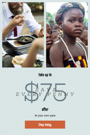 Portrait design template for sales - #banner #businnes #sales #CallToAction #salesbanner #table #bearded #lunch #meal #cook #uniform #africa #breakfast #with