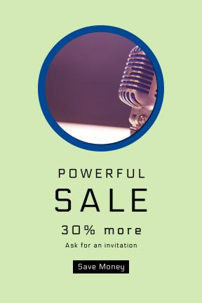 Portrait design template for sales - #banner #businnes #sales #CallToAction #salesbanner #background #mic #school #old #technology