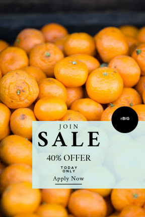 Portrait design template for sales - #banner #businnes #sales #CallToAction #salesbanner #healthy #rounded #lemon #scent #basket #circles #smell #tangerine #market