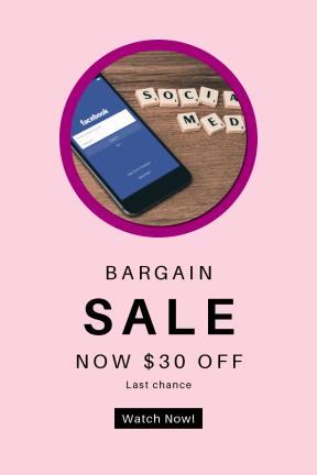 Portrait design template for sales - #banner #businnes #sales #CallToAction #salesbanner #facebook #letter #desk #typography #in #tile
