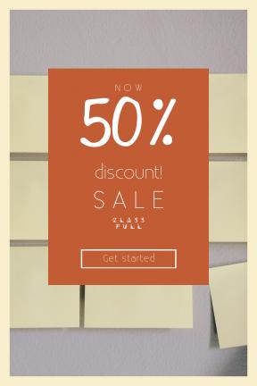 Portrait design template for sales - #banner #businnes #sales #CallToAction #salesbanner #classroom #shapes #memo #type #hand