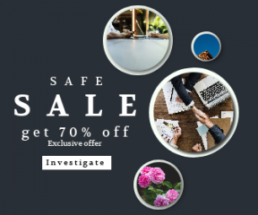Square large web banner template for sales - #banner #businnes #sales #CallToAction #salesbanner #community #white #gardening #deal #corporate #business #handshake