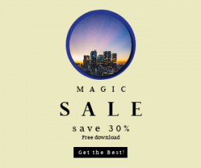 Square large web banner template for sales - #banner #businnes #sales #CallToAction #salesbanner #color #dark #skyscraper #urban #angeles #architecture #downtown #skyline