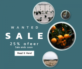 Square large web banner template for sales - #banner #businnes #sales #CallToAction #salesbanner #hill #flower #fruit #moment #desk