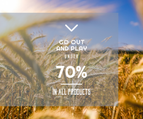 Square large web banner template for sales - #banner #businnes #sales #CallToAction #salesbanner #closeup #lensflare #field #arrows #meadow #wheat #nature