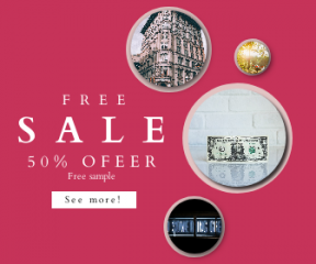 Square large web banner template for sales - #banner #businnes #sales #CallToAction #salesbanner #george #one #dollar #hammock #girl #currency #luminoso #washington #window