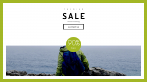 FullHD image template for sales - #banner #businnes #sales #CallToAction #salesbanner #leadership #explore #cliff #haze #backpack #view #mountain #ontario #travel