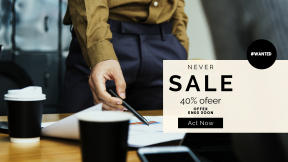 FullHD image template for sales - #banner #businnes #sales #CallToAction #salesbanner #hand #phone #shirt #coffee #business #westerner