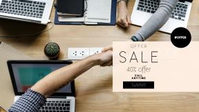 FullHD image template for sales - #banner #businnes #sales #CallToAction #salesbanner #team #hand #deal #workplace #hands #meeting #working #teamwork