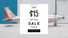 FullHD image template for sales - #banner #businnes #sales #CallToAction #salesbanner #propeller #plane #window #hangar #wheel #building