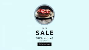 FullHD image template for sales - #banner #businnes #sales #CallToAction #salesbanner #restaurant #button #diner #breakfast #plate #fruit #lunch #table #shapes