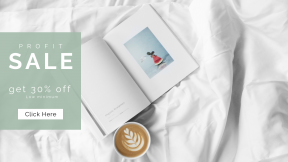 FullHD image template for sales - #banner #businnes #sales #CallToAction #salesbanner #morning #bed #watermelon #magazine #minimal