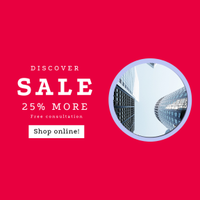 Image design template for sales - #banner #businnes #sales #CallToAction #salesbanner #looking #skyscraper #city #skyscaper #corporate #height #tall #reflect #office
