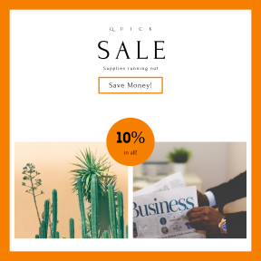 Image design template for sales - #banner #businnes #sales #CallToAction #salesbanner #man #business #sunset #cactu #green #desert #newspaper #businessman