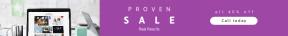 Leaderboard web banner template for sales - #banner #businnes #sales #CallToAction #salesbanner #laptop #frame #work #working #notepad #rectangles #workspace #background #ribbon