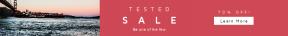 Leaderboard web banner template for sales - #banner #businnes #sales #CallToAction #salesbanner #brifge #boat #water #frost #ocean