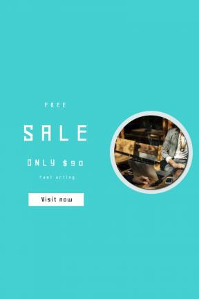Portrait design template for sales - #banner #businnes #sales #CallToAction #salesbanner #internet #corporate #beard #woman #talking #phone #meeting #suit #beverage #glass
