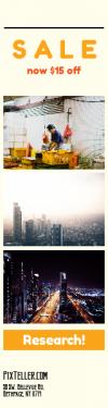 Skyscraper wide web banner template for sales - #banner #businnes #sales #CallToAction #salesbanner #city #exposure #night #skyscrapper #skyline #highway #building #person #uae