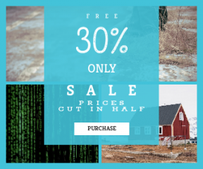 Square large web banner template for sales - #banner #businnes #sales #CallToAction #salesbanner #ranch #green #cold #crack #sweater #electronic