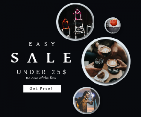 Square large web banner template for sales - #banner #businnes #sales #CallToAction #salesbanner #latte #refreshment #cocktail #man #electric