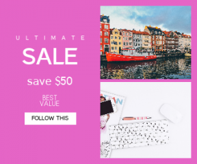 Square large web banner template for sales - #banner #businnes #sales #CallToAction #salesbanner #roof #magazine #nyhavn #read #harbour