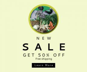Square large web banner template for sales - #banner #businnes #sales #CallToAction #salesbanner #radish #blur #market #fresh #vegetable