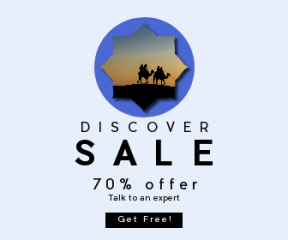 Square large web banner template for sales - #banner #businnes #sales #CallToAction #salesbanner #scalloped #rounded #dune #travel #sand #hill #sunset
