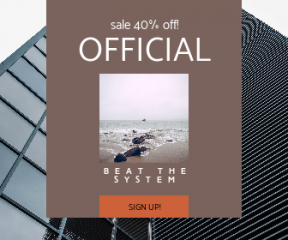 Square large web banner template for sales - #banner #businnes #sales #CallToAction #salesbanner #architecture #shoreline #modern #beach #rock #building #fishing #francisco #minimal #san