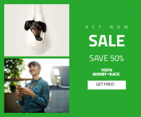 Square large web banner template for sales - #banner #businnes #sales #CallToAction #salesbanner #necklace #lady #weener #sheet #dauchshund #dog #phone #animal #puppy