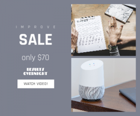 Square large web banner template for sales - #banner #businnes #sales #CallToAction #salesbanner #google #contract #modern #contemporary #technology #connected #hands #workspace #planner #home