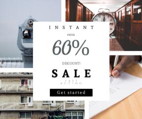 Square large web banner template for sales - #banner #businnes #sales #CallToAction #salesbanner #wooden #work #sidewalk #squares #symbol #france #room #watch