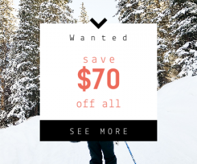 Square large web banner template for sales - #banner #businnes #sales #CallToAction #salesbanner #adventure #backpack #hiker #play #woodland #recruitment