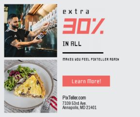 Square large web banner template for sales - #banner #businnes #sales #CallToAction #salesbanner #male #leaf #beer #style #bottle #fashion #vegetable #restaurant #tap #european