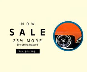 Square large web banner template for sales - #banner #businnes #sales #CallToAction #salesbanner #automobile #classic #car #vehicle #wallpaper #sport