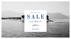 FullHD image template for sales - #banner #businnes #sales #CallToAction #salesbanner #black #ocean #island #boat #and