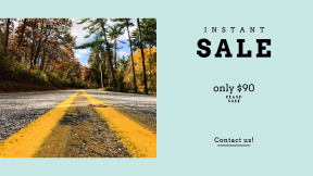 FullHD image template for sales - #banner #businnes #sales #CallToAction #salesbanner #horizontal #vertical #road #journey #nture #asphalt #middle #alone