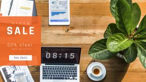 FullHD image template for sales - #banner #businnes #sales #CallToAction #salesbanner #iphone #ipad #financial #coffee #business #book #laptop #macbook