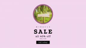 FullHD image template for sales - #banner #businnes #sales #CallToAction #salesbanner #sign #nature #green #circular #kid