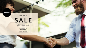FullHD image template for sales - #banner #businnes #sales #CallToAction #salesbanner #agreement #meeting #deal #smiling #man #smile
