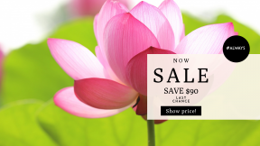 FullHD image template for sales - #banner #businnes #sales #CallToAction #salesbanner #background #nature #card #flower #pink #floral #water #petal #romance #bloom