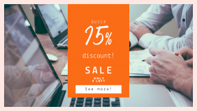 FullHD image template for sales - #banner #businnes #sales #CallToAction #salesbanner #black #man #work #male #mac #screen #square #shapes #workspace