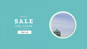 FullHD image template for sales - #banner #businnes #sales #CallToAction #salesbanner #sky #building #resort #teal #window #minimal #dome