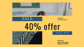 FullHD image template for sales - #banner #businnes #sales #CallToAction #salesbanner #school #woman #parent #sun #lady #geometry #going #classroom
