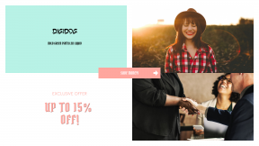 FullHD image template for sales - #banner #businnes #sales #CallToAction #salesbanner #woman #red #female #helping #partnership